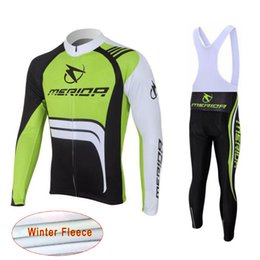 Bicycle Sales NZ - 2018 Hot Sale MERIDA winter thermal fleece cycling Jersey Suit men long sleeve racing bicycle clothing road bike sportswear 112004Y