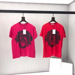 $enCountryForm.capitalKeyWord Australia - 2019 mens designer t shirts tee luxury Big red big dog head print clothes short sleeve women shirts Men Women real label tag New 19ss
