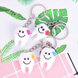 $enCountryForm.capitalKeyWord Australia - Lovely Cartoon Dental Simulation Tooth Pendant Keychain Women Girls Bag Hanging Accessories Gift