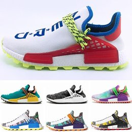 55c81e57f leather shoes without laces 2019 - 2019 NMD Human Race Mens Running Shoes  Without Box Pharrell
