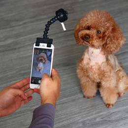 pet tablet Canada - Pet Selfie Stick for Pets Dog Cat fit iPhone Samsung and Most Smartphone Tablet Black White products supplies