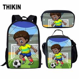 $enCountryForm.capitalKeyWord Australia - THIKIN Afro Black Art Boy School Backpack for Teenagers Girls 3pcs set Student School Bag Cute African American Girls Pencil Bag