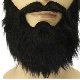Back Hair Men UK - Fashion Funny Costume carnivals Halloween Party Mask Male Man Halloween Beard Facial Hair Disguise Game Black Fake Mustache