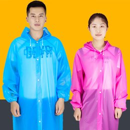 China PEVA Thickened Disposable Raincoat Outdoor Tourist Raincoat Travel Tour Camping Hiking Rain Cover Detachable Non-Disposable Rainwear cheap peva plastic suppliers