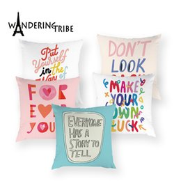 $enCountryForm.capitalKeyWord NZ - Colorful Letter Cushion Cover Boho Decorative Throw Pillow Covers White High Quality Pillows Case Home Decor Bed for Sofa Cases