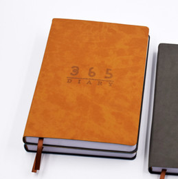 leather business planner NZ - A5 Diary Notebook Soft Leather Cover Notebook 156 Sheets 365 Days Diary Planner