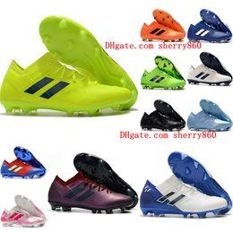 bec4342dd 2019 mens soccer cleats Nemeziz Messi 18.1 FG soccer shoes Nemeziz 18  chaussures de football boots chuteiras de futebol orange