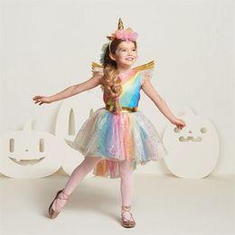 $enCountryForm.capitalKeyWord Australia - 2018 New Unicorn Party Girls Dresses Kids Unicorn Rainbow Tutu Birthday Gown Costume Princess Dress For Girl Children Clothing