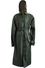 Nylon Coating Australia - American Military Soldier Style Wind Jacket Breaker Raincoat Dust Coat Trench Coat Men Overcoat Plus Size 210D Nylon PU Fabric #17081