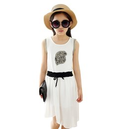 Dresses For Teenagers NZ - 2019 Summer Teenagers Girls Dress Children Sleeveless Vest Dress 3-12 Years Girls Clothing Kids Costume For Girls