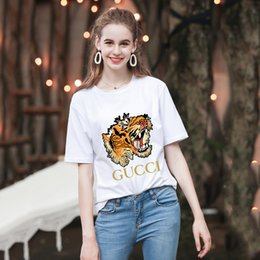 df4be6758bd Tops Summer Designer manches courtes luxe marque féminine Impression  Slender femmes T-shirts manches courtes pour femmes polo vêtements vêtements  G    g tee
