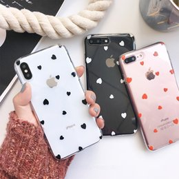 Case Tpu Heart Australia - Little Love Heart Pained Phone Cases For Iphone X Xr Xs Xs Max For Iphone 6 6s 7 8 Plus Ultra Thin Clear Tpu Back Cover
