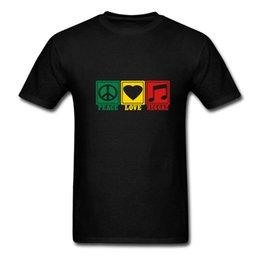 $enCountryForm.capitalKeyWord UK - Best Funny T Shirts Peace Love Reggae Men's O - Neck Short Comfort Soft Shirt