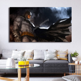 marvel art prints NZ - Dark Knight Batman Painting Marvel Superheroes Posters and Prints Decorative Wall Art Pictures for Living Room Home Decoration