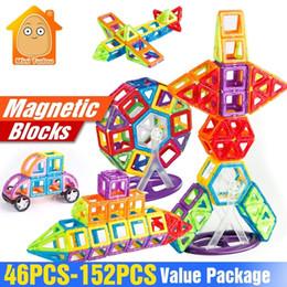 Game maGnets online shopping - 152 Magnet Toys Building Blocks Magnetic Construction Set Designer Kids DIY Educational Toys Games For Children SH190913