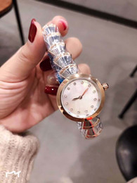 Chinese  Outdoor Ladies Watch 33MM Mother Of Pearl White Dial Diamond Hour Marker Quartz Gold Case Womens Watches Two Tone Stainless Steel Bracelet manufacturers