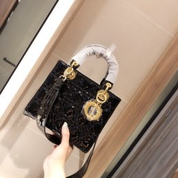 Designer luxury handbags purses mini bag 2020 new vintage four-pattern patent leather princess women handbags luxury designer backpacks on Sale