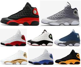Alta Qualidade 13 Criada Chicago Flint Atmosfera Cinza Dos Homens Das Mulheres Sapatos de Basquete 13 s Ele Got Jogo Melo DMP Hyper Royal Sneakers Com Caixa