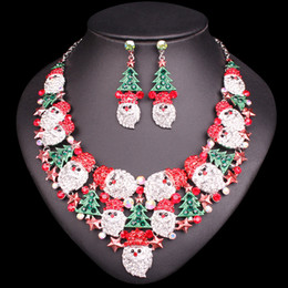$enCountryForm.capitalKeyWord Australia - Gorgeous Christmas Tree Necklace Earrings Sets Jewelry Sets Christmas Party Costume Jewellery Accessories Xmas Gifts For Women J190523