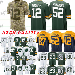 bf8a16dbe aaron rodgers jerseys 2019 - 12 Aaron Rodgers Green Bays 52 Clay Matthews  Packer 23 Jaire
