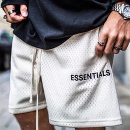 19SS FOG FEAR OF GOD Essentials Hombres Short Beach Jumpsuit Harem Spandex Mesh Drop Crotch Summer Basketball Shorts HFLSDK065