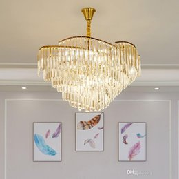 Lustre pendant online shopping - luxury design crystal lamp modern chandelier lighting AC110V v lustre LED dining room chandelier foyer lights