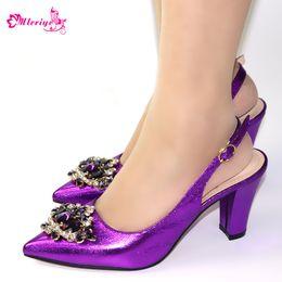 $enCountryForm.capitalKeyWord Australia - Latest Purple Color Summer Women Elegant Pumps Ladies Wedding Shoes Decorated with Rhinestone Italian Ladies Sandals for Parties