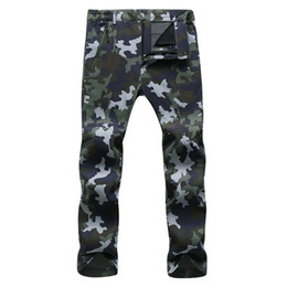blue cargo trousers Australia - Winter Cargo Pants Men Women Fleece Shark Skin Softshell Trousers Waterproof Thermal Stretch Sweatpants Army Tactical Work Pants MX200323
