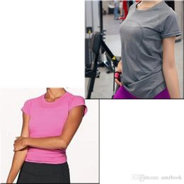 $enCountryForm.capitalKeyWord Australia - brand with short sleeves yoga t shirt for women 3 colors Green pink grey 315 TOP quality Jogging Clothing