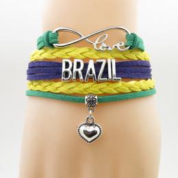 $enCountryForm.capitalKeyWord Australia - Infinity Love Brazil Bracelet Heart Charm Bracelet Love Country Bracelets & Bangles For Women And Men Jewelry