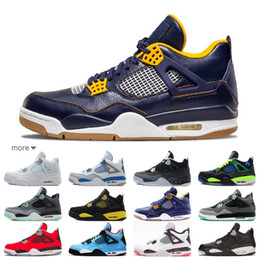 c7be365360cc6 2019 New design best Men Basketball Shoes 4s white black Angry bull 4 blue  CAVS Sports Shoes size eur 41-47 free shipping