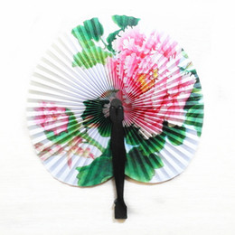 83b7cea293f5 Chinese paper Cutting art online shopping - Hot Sale Vintage Flower  Printing Paper Fan Wedding Decoration
