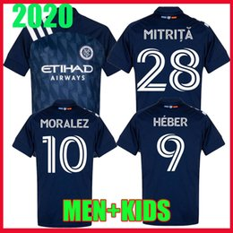 man city soccer jerseys NZ - men kids kit 2020 2021 New York city Soccer Jersey MLS 20 21 Heber Parks NYCFC Mitrita MORALEZ DAVID VILLA PIRLO Football Shirt