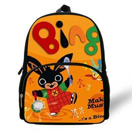 Bunny Rabbit Cartoon Australia - Cute Cartoon Bing Bunny Print Children School Bags For Girls Boys Bookbag Best Gift Bag Kindergarten Rabbit Backpack Baby Kids Y19051701