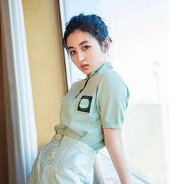 $enCountryForm.capitalKeyWord Australia - Explosion models ladies ice silk knit short-sleeved shirt 2019 summer high-end new spot real shot fashion temperament women