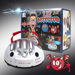 Polygraph Toy Funny Polygraph Toys Polygraph Test Electric Shock Lie Detector Shocking Liar Truth Dare Game Fun Novelty Toys on Sale
