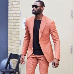 $enCountryForm.capitalKeyWord Australia - 2019 Latest Designs Peaked Lapel Two Buttons Men Suits Custome Peach Tuxedos Cool Blazer Men Handsome Slim(Jacket+Pants)