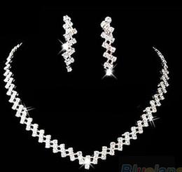 $enCountryForm.capitalKeyWord Australia - Sumptuous Bridal Wedding Prom Jewelry Crystal Rhinestone Diamante Necklace & Earring Set