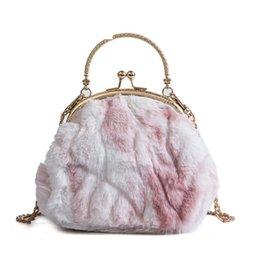 Shell Hand Bag NZ - Personality Plush Shell Hand Bags Women New Fashion High Quality Casual Wild Temperament Shoulder Messenger Bag