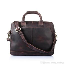 $enCountryForm.capitalKeyWord Australia - Men S Briefcase Cowhide Leather Pocket Top Quality Purse Designer Handbags Portable Genuine Leather Travel Bag