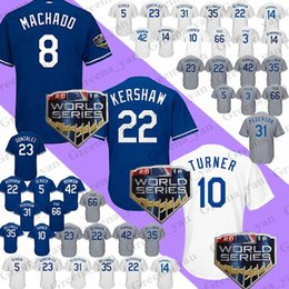 c1b7f03aa Baseball Jerseys 8 Manny Machado Los Angeles Dodgers 22 Clayton Kershaw 5  Corey Seager 10 Justin Turner Baseball Jersey Adult 2018 new