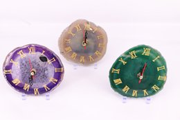$enCountryForm.capitalKeyWord Australia - agate clock with roman number engraved for house decoration gift free shipping