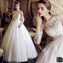 $enCountryForm.capitalKeyWord Australia - Robe de mariage 2019 white lace ball gown wedding dress off the shoulder appliques beaded wedding gowns corset puffy bride dress