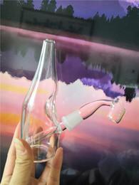 14 Mm Glass Rigs Australia - Wine Bottle Glass Bongs Mini Oil Rigs Wax Smoking Pipes 14 mm Banger Heady Bubbler Nexus Puck Fab Egg Hookahs Cheap