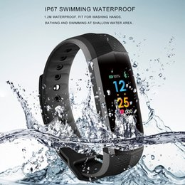 Portuguese Bracelets Australia - CD02 Fitness Bracelet Color Sport Smart Band Ip67 Waterproof Activity Tracker Heart Rate Monitor Pedometer 10 Days Standby pk fitbit