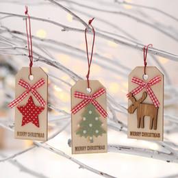 Gift Craft Christmas Ornament Australia - 100% Brand New Merry Christmas Pendant Ornaments DIY Wood Crafts Gifts Xmas Wooden Tree Translucidus Ornaments