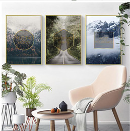 Word Art Canvas Prints Australia - New Arrival 3 Panels Spirit Words Landscape Background Unframed Painting Canvas Modern Wall Art HD Printing Living Room Decor