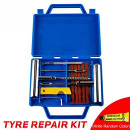 screw fix tools 2019 - 11pcs Car Tire Repair Kit Travel Puncture Fix Tyre Repairing Tool Set Metal Plug Flat Handle For Automobiles fork drill