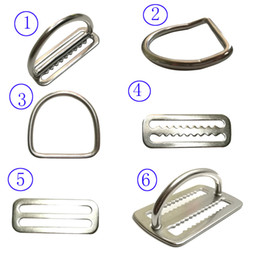 "$enCountryForm.capitalKeyWord Australia - 2"" Stainless Steel Scuba Diving Weight Belt Slide Keeper D Ring Webbing Harness Belt Retainer Stopper Freediving BCD Accessoires"