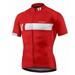 polyester short sleeve shirts Australia - Factory direct sales GIANT Cycling Jersey Bicycle Tops Summer Racing Cycling Clothing Maillot Ropa Ciclismo Short Sleeve Mtb Bike Shirts